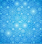 christmas background,  large quantity  snowflakes