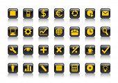 Conjunto de símbolos de negócios. Ilustração vetorial.