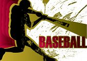 Baseball Batter to Poster. Vektor-Illustration.