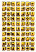 Pictogram set isolated on white. Vector illustration.