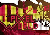 Abstrato base de pixel. Ilustração vetorial.