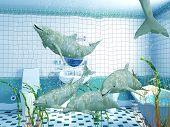 Bathroom Dolphins