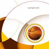 Постер, плакат: Баскетбол макет с дизайном абстракции Векторные иллюстрации