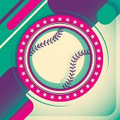 Colorful baseball poster. Vector illustration.