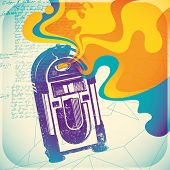 Colorful jukebox illustration. Vector illustration.