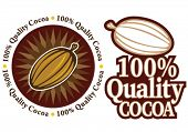Quality Cocoa Seal / Mark / Icon