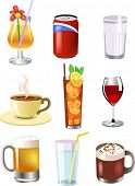 stock photo of milk-pint  - set of vector drinks - JPG