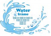 Water frame. Vector illustration.