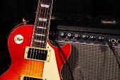 Sunburst Electric Guitar And Amp