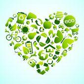 Eco green icon heart
