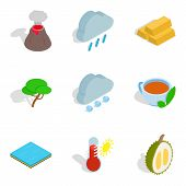 Eco Vital Icons Set. Isometric Set Of 9 Eco Vital Icons For Web Isolated On White Background poster
