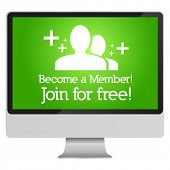 Become a member, join for free advertisement in monitor