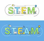 Steam And Steam Education Approaches Concept Vector Illustration. poster