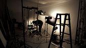 Lighting Setup In Studio For Commercial Works poster