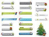 Botones de descargar Navidad tema Web