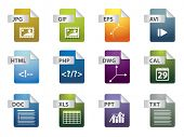 stock photo of png  - File extension icons - JPG