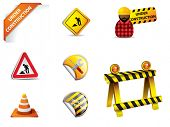 under construction sign and symbols