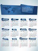Calendario para 2012 vector