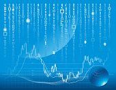 image of stock market data  - vector background with forex or stock exchange chart - JPG