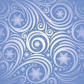 Winter christmas seamless background