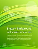 Stylish modern green background in letter format - great for print and web - presentation, company brochure cover, letterhead, banner, website, etc