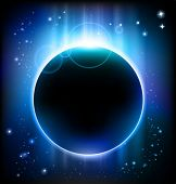 image of lunar eclipse  - eclipse background - JPG