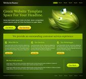 green website editable template