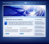 vector dark blue website template for designers