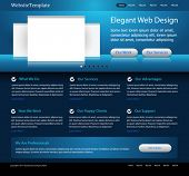 dark blue website design template