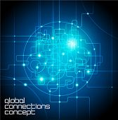 foto of connected  - abstract background global internet connections concept - JPG