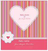 Постер, плакат: Baby прибытия карта с фото рамка
