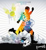 Sports training . Vector illustration.