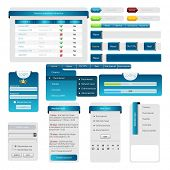 Set: forms and design element for web. Vector