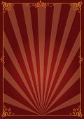 Decorative poster. A background with sunbeams for your advertising.