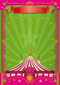 picture of circus tent  - Pink Circus A circus background with a large copy space for your message - JPG