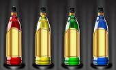 Vector color bottles