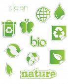 Fresh green peel-off stickers