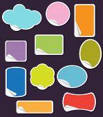 Satz von Pastell Peel-off Sticker