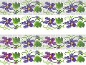 Embroidery elements. floral seamless pattern, violets