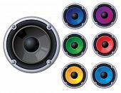 Raster set of speakers