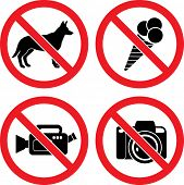 image of no entry  - Forbidding Vector Signs  - JPG