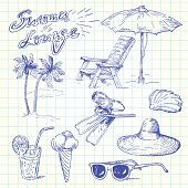 summer lounge doodles