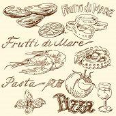 seafood doodles