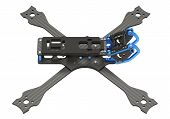 3d Rendering Fpv Racing Drone Frame Kit Isolated On White Background poster