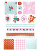 Design Elements for scrap booking, greeting cards, wallpaper, textiles, stencils all patterns are re