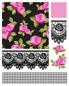 Classic design Elements for scrapbooking, greeting cards, wallpaper, textiles, stencils all patterns