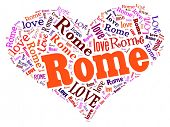Love heart of  Rome