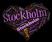 Wordcloud: love heart of city Stockholm