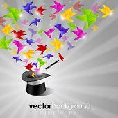 Papel Origami de liberdade com calor mágico