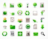 green energy concept vector icons set (see also other related images in my portfolio)